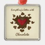 Mejore con el ornamento del chocolate adorno