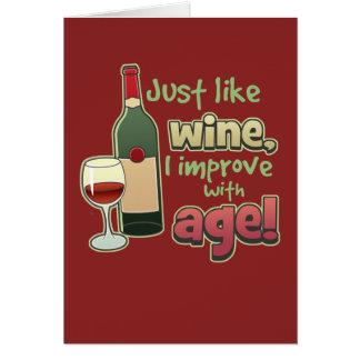 Mejore con la tarjeta de felicitación de la edad