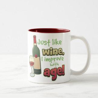 Mejore con la taza de la edad