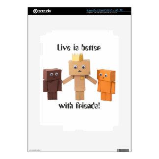 mejore con los amigos pegatina skin para iPad 3