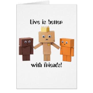mejore con los amigos tarjeta de felicitación