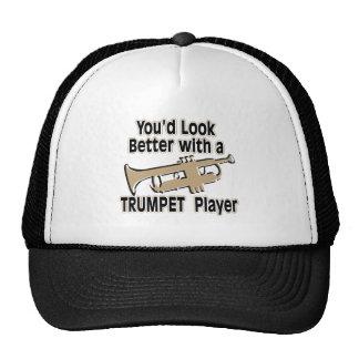 Mejore con un jugador de trompeta gorro de camionero