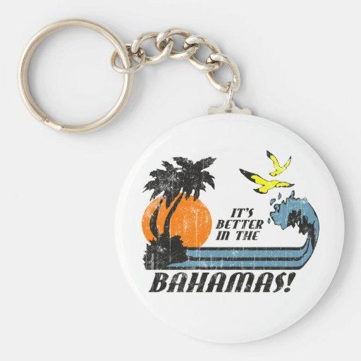 Mejore en Bahamas se descoloró Llavero Redondo Tipo Pin