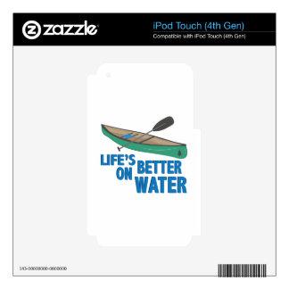Mejore en el agua iPod touch 4G skin