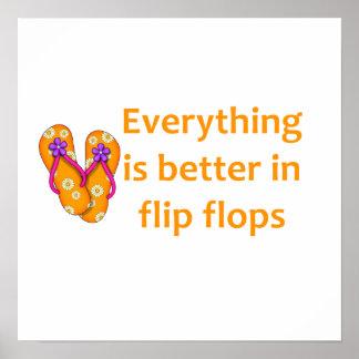 Mejore en flips-flopes póster