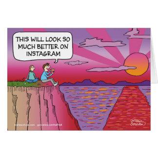 Mejore en Instagram Tarjeta De Felicitación