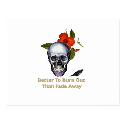 Mejore para quemar que se descoloran lejos tarjetas postales
