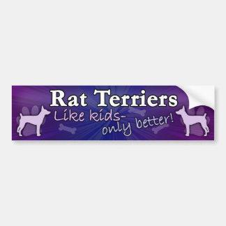 Mejore que la rata Terrier de los niños Etiqueta De Parachoque