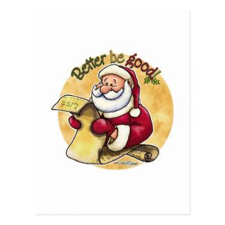 Mejore sea bueno - lista de Santas Postal