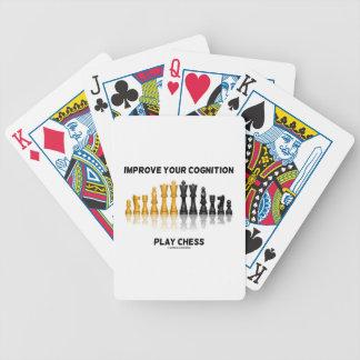 Mejore su ajedrez del juego de la cognición baraja cartas de poker