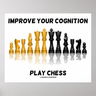 Mejore su ajedrez del juego de la cognición (el ju poster
