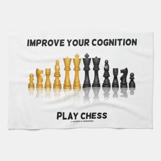 Mejore su ajedrez del juego de la cognición el ju toallas