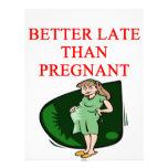 mejore tarde que embarazada membrete personalizado