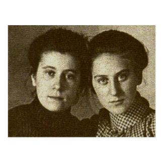 Mejores amigos 1901: Emma Craley y Addie Zarfos Tarjeta Postal