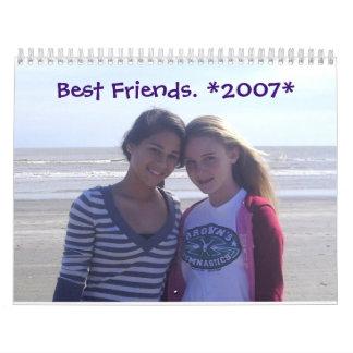 Mejores amigos. *2007* calendario de pared
