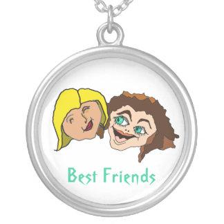 Mejores amigos - amigas colgante redondo