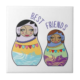 Mejores amigos azulejo cerámica