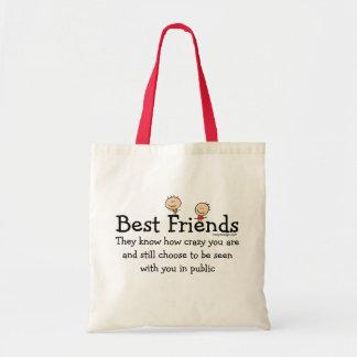 Mejores amigos bolsa tela barata