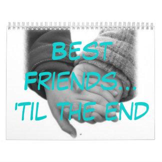 Mejores amigos calendarios