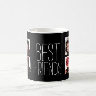 Mejores amigos con 8 fotos taza de café