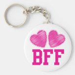 Mejores amigos de BFF para siempre con los corazon Llavero Personalizado