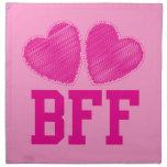 Mejores amigos de BFF para siempre con los corazon Servilleta Imprimida