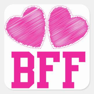 Mejores amigos de BFF para siempre con los Pegatina Cuadradas
