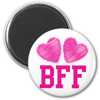 ¡Mejores amigos de BFF para siempre!!! ¡impresiona Imán Redondo 5 Cm