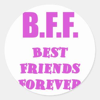 Mejores amigos de BFF para siempre Etiqueta Redonda