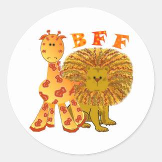 Mejores amigos de BFF para siempre Pegatina Redonda