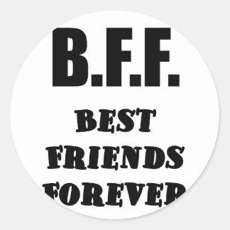 Mejores amigos de BFF para siempre Etiquetas Redondas