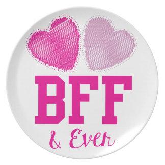 Mejores amigos de BFF para siempre Plato Para Fiesta
