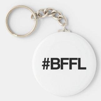 Mejores amigos de BFFL para la vida Hashtag Llavero Redondo Tipo Pin