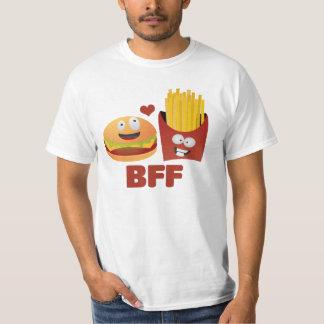Mejores amigos de la hamburguesa y de las fritadas playera