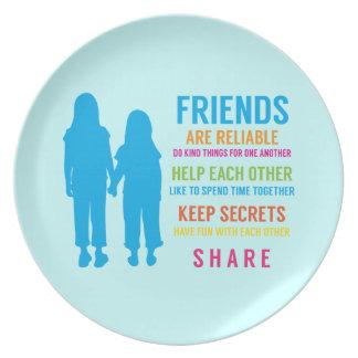 Mejores amigos de las novias del amigo BFF de la a Platos De Comidas