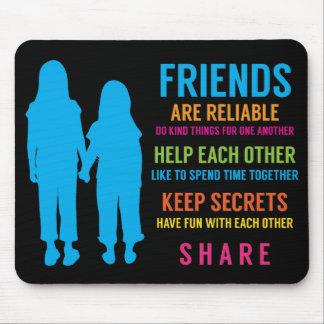 Mejores amigos de las novias del amigo BFF de la a Alfombrillas De Ratones