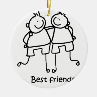 Mejores amigos de los amigos de Melhores Adorno Navideño Redondo De Cerámica