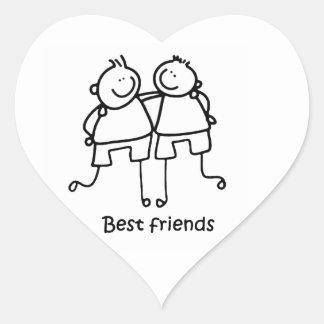 Mejores amigos de los amigos de Melhores Pegatina En Forma De Corazón