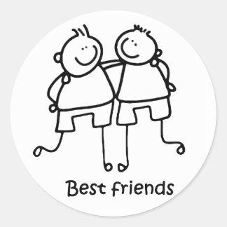 Mejores amigos de los amigos de Melhores Pegatina Redonda