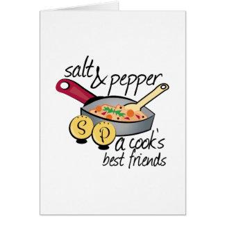 Mejores amigos de los cocineros tarjeta de felicitación