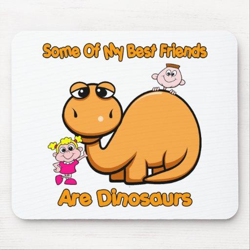 Mejores amigos del dinosaurio alfombrilla de ratón