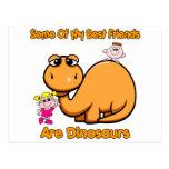 Mejores amigos del dinosaurio postales