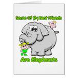 Mejores amigos del elefante tarjetón