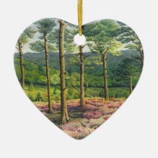 Mejores amigos del pastel de los pinos de las adorno navideño de cerámica en forma de corazón