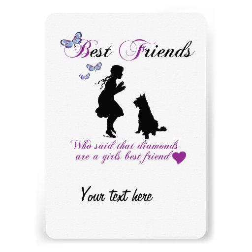 Mejores amigos del perro y del chica invitacion personal