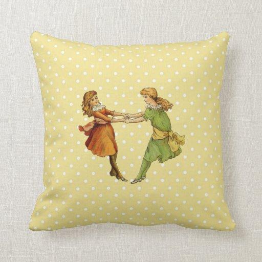 Mejores amigos del vintage de los chicas almohadas