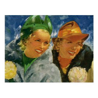 Mejores amigos del vintage ¡Mujeres elegantes y e