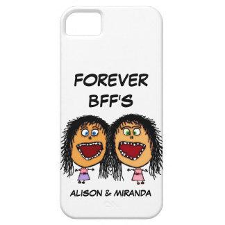 Mejores amigos divertidos BFF del dibujo animado iPhone 5 Fundas