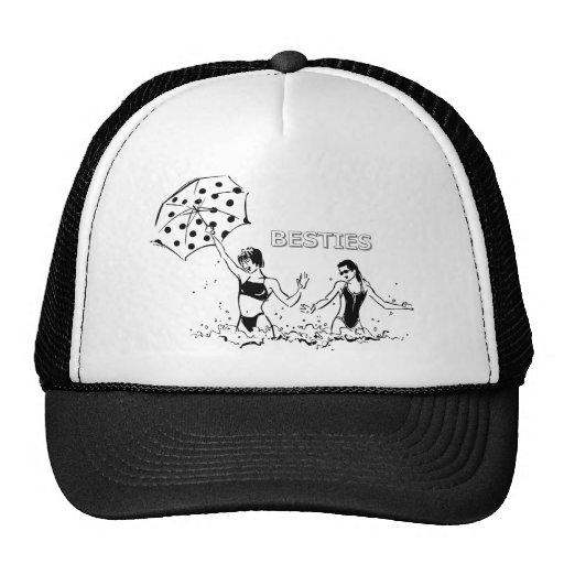Mejores amigos en la playa gorra