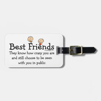 Mejores amigos etiquetas maleta